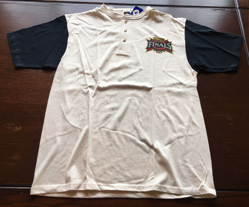 New 2001 Official PRCA National Finals Rodeo Large NFR Henley Cowboy Ivory Vegas
