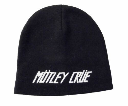 Motley Crue Band Beanie Black Knit Hat