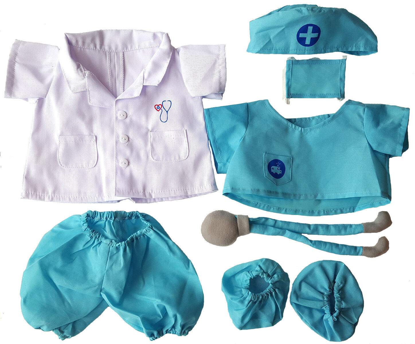 Doctor Outfit Teddy Bear Clothes Fits Most 14