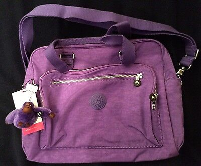 NWT Baby Diaper Bag Kipling Alanna TM5266 Vivid Purple w/ Changing Mat