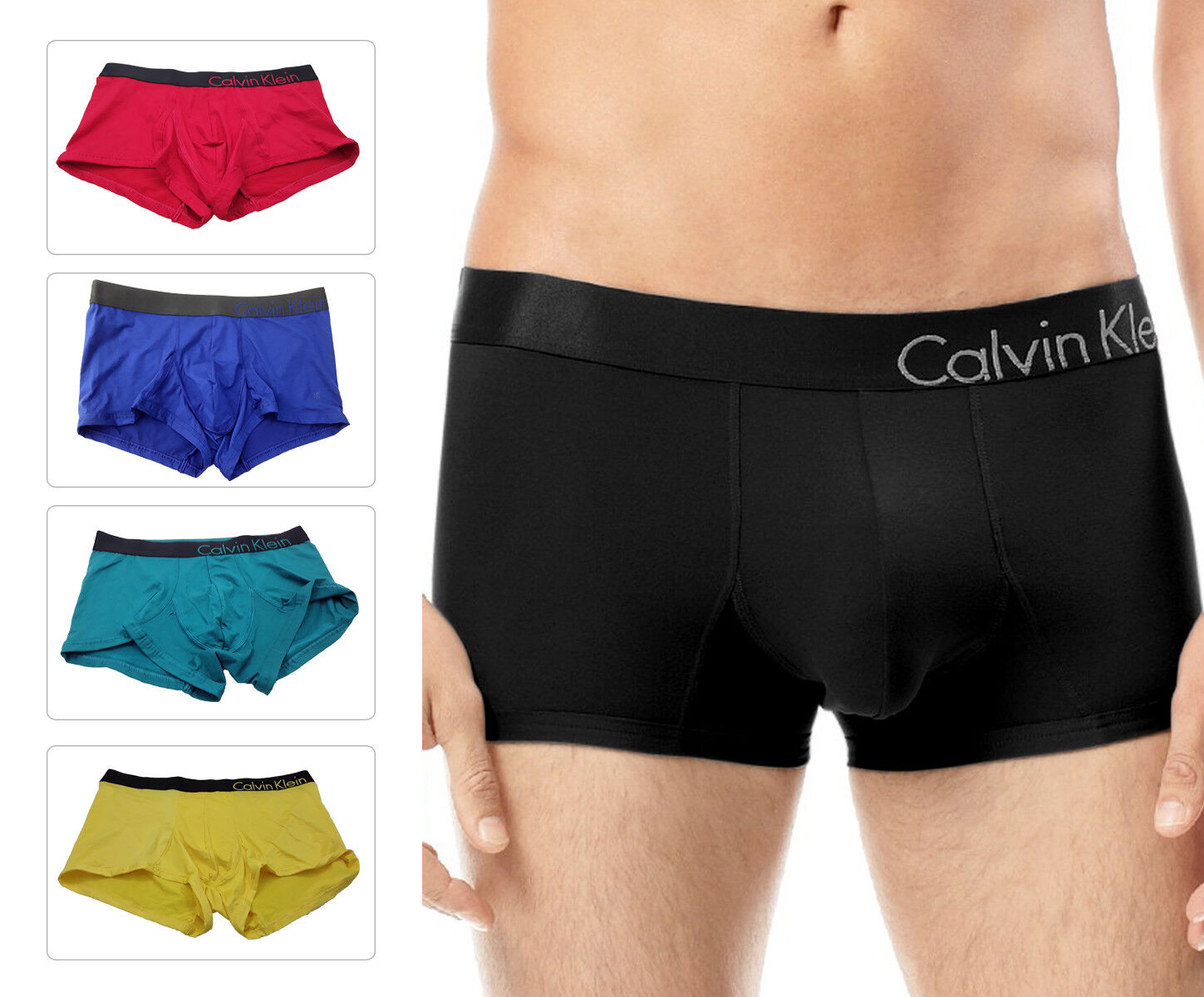 great variety styles 60% clearance extremely unique Details about Calvin Klein Men's Boxer Trunk U8908 CK Bold Low Seamless  Underwear