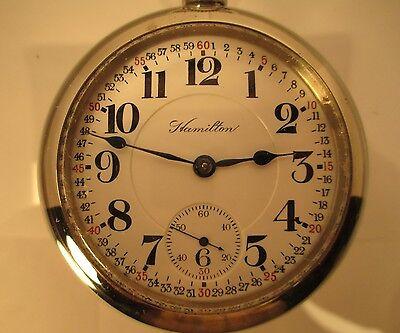 Hamilton 18 size Railroad Pocket Watch 940 21 Jewel 1907