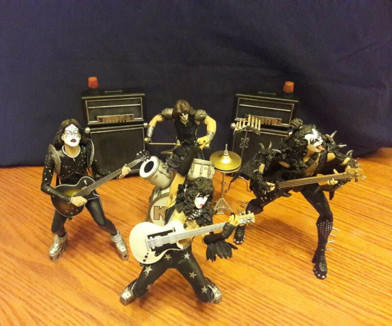 Kiss Alive Mcfarlane Figures great condition