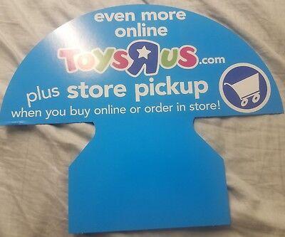 Toys R Us Store Display Sign Buy Online Pickup In Store 2 Sided - Buy Online Pickup In Store