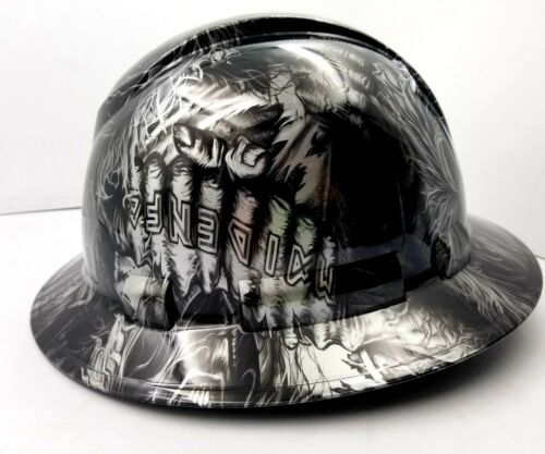 Hard Hat custom hydro dipped , OSHA approved FULL BRIM , IRON MAIDEN EDDIE NEW 2