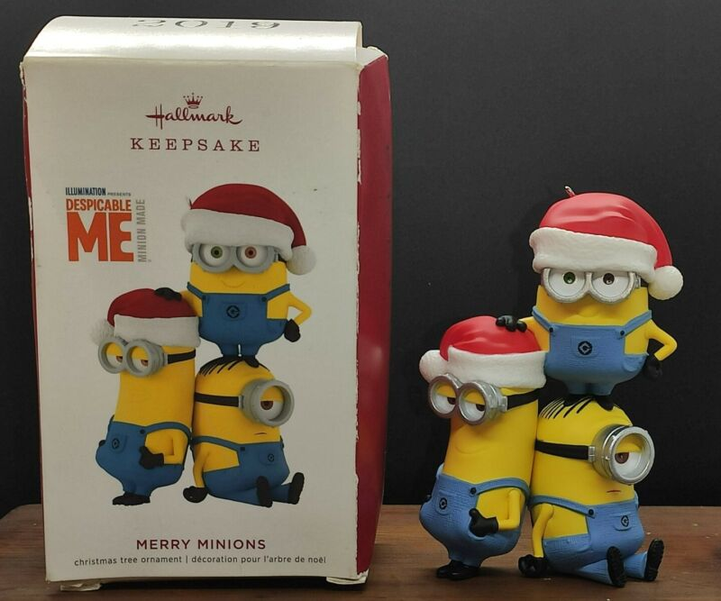 Hallmark Keepsake 2019- Merry Minions Despicable Me Minions *Damaged Box*