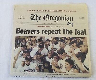 Osu Beavers 2007 Ncaa National Champions Baseball Oregonian Newspaper