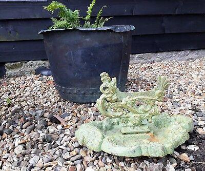 a lovely victorian cast iron boot scraper naturalistic coalbrookdale?