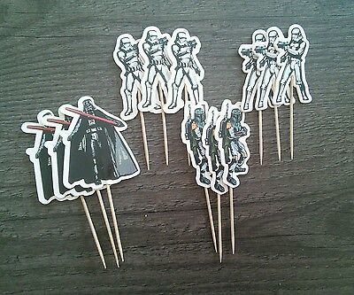 STAR WARS Cake Picks Cupcake Toppers Flags 12 24 36 New BIRTHDAY PARTY