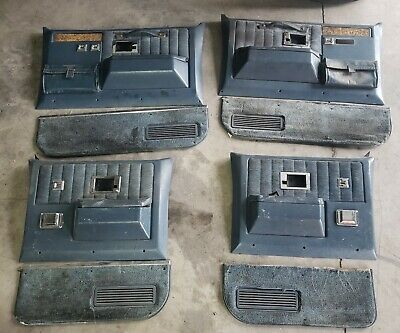 81-91 1990 Chev GMC Silverado Suburban Crew Cab BLUE Door Panels Set Of 4