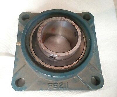 Square Flange Rbi Ucfs211-35 Mounted Bearing Uc211-35 Fs211 New Old Stock Rust