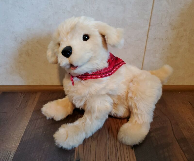Ageless Innovation Joy For All Companion Pet Golden Pup Lifelike & Realistic EUC