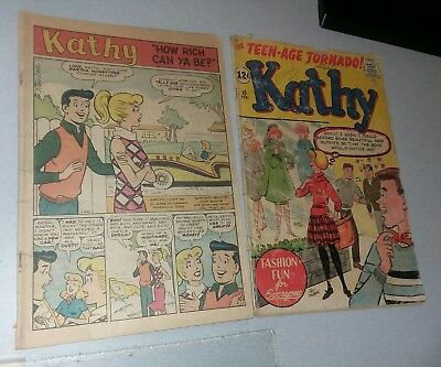 Kathy Comics #15+ atlas marvel comics 1962 gga Paper Dolls Stan lee Goldberg F/G