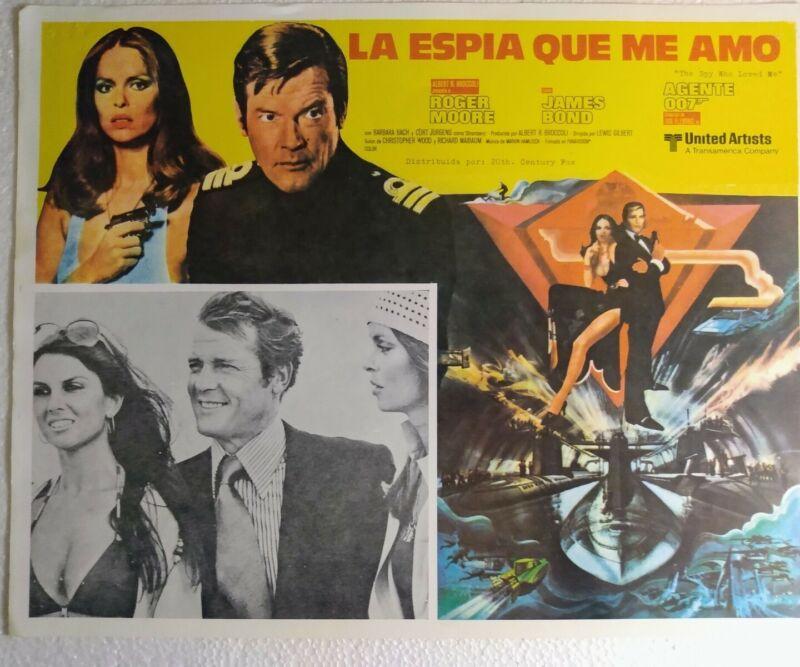 James Bond O07 Lobby Cards Original From Mexico 5 different choices