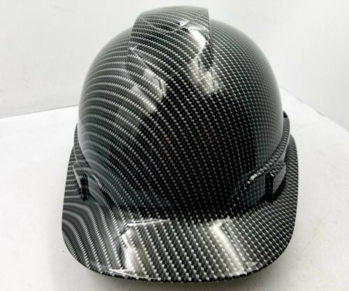 Hard Hat custom hydro dipped , OSHA approved , NEW TRUE WEAVE CARBON FIBER