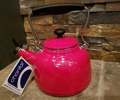 *NEW* Red Enamel on Steel Chantal VINTAGE Teakettle 1.7 Qt Kettle 37-VINT