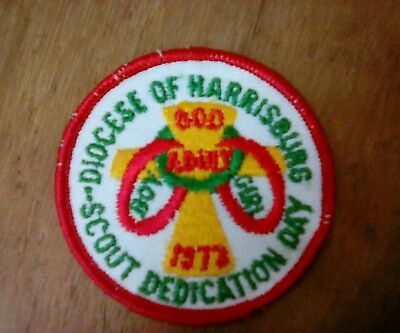 Boy Scouts - Diocese of Harrisburg - 1973 Scout Dedication Day patch Girls BSA