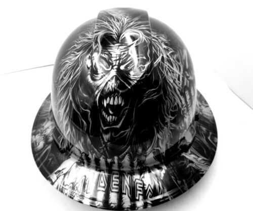 Hard Hat custom hydro dipped , OSHA approved FULL BRIM , IRON MAIDEN EDDIE NEW