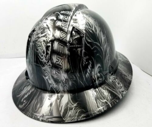 Hard Hat custom hydro dipped , OSHA approved FULL BRIM , IRON MAIDEN EDDIE NEW 3
