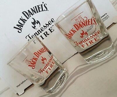 PAIR OF JACK DANIELS TENNESSEE FIRE SHOT GLASSES