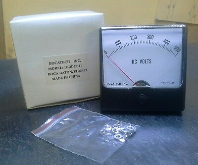 Panel Meter 0 - 500 Dc Volts 80mm X 80mm