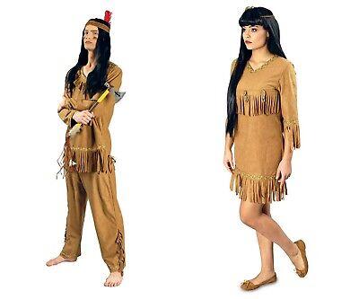 nerin wildlederoptik Damen Herren  Kostüm NEU (Squaw Kostüm)