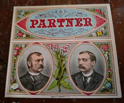 Partner  Outer Cigar Label  American Lithographic Co  New York 1892 1896