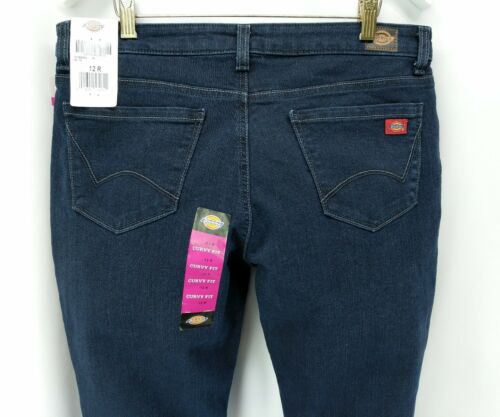 Dickies womens jeans size 12 R curvy boot leg mid rise stret