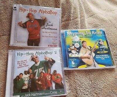 Hip-Hop AlphaBop 1 and 2 by Jack Hartmann (CD, Hop 2 It Music) Rhyming to Read ()