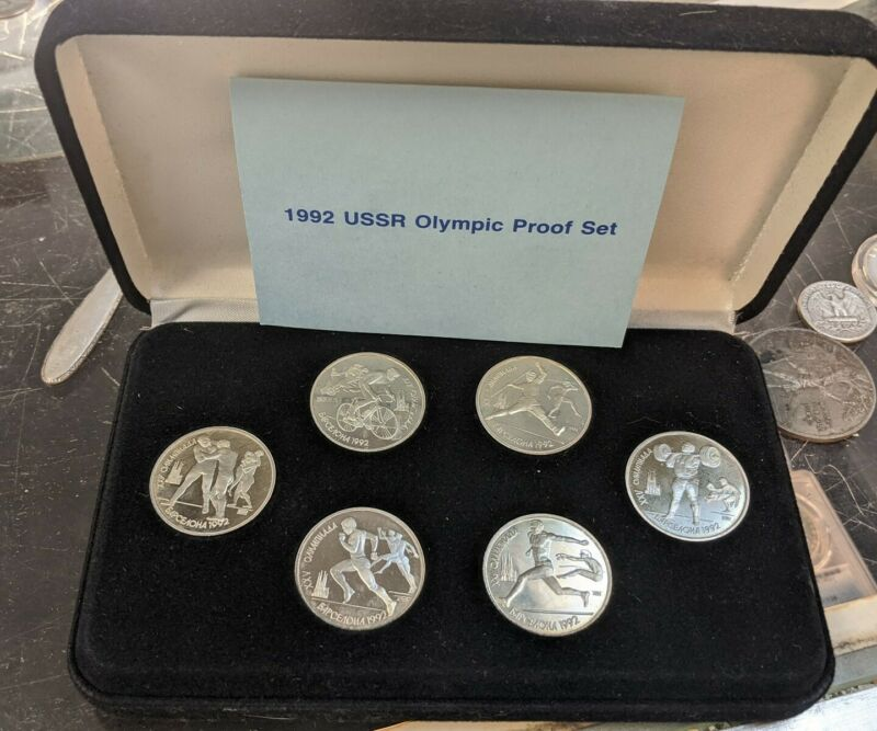 1992 USSR Olympic Proof 6 Coin Set