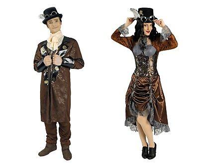 Steampunk Jules Verne Eliza Herren Damen Kostüm viktorianisches Zeitalter NEU ()