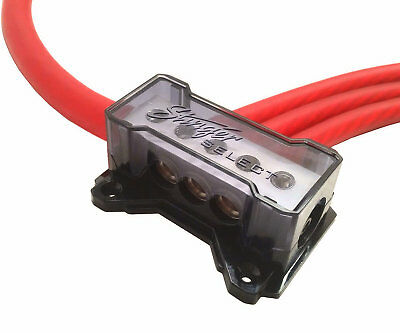 Stinger 0 AWG to 4 Gauge Power or Ground Amp Cable Distribution Block SSDB2034