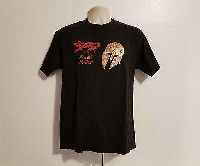 rank Miller Gold Mask Adult Black Medium TShirt (300 Movie Maske)