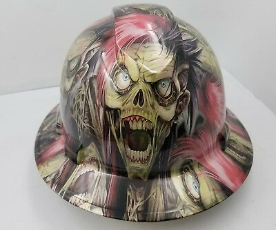 Hard Hat Full Brim Custom Hydro Dipped Osha Approved Punk Rock Cyborg Killer
