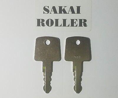 2 Sakai Blacktop Key Roller Keys Heavy Equipment Ignition Asphalt Roller Key