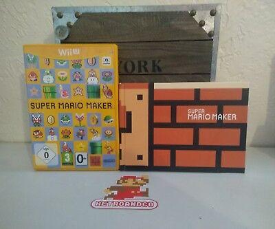 jeu vidéo super mario maker + artbook nintendo wii u