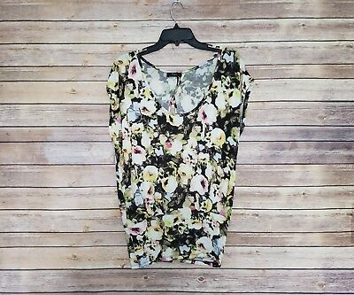 Paul Smith Black Tops (PAUL SMITH Black Label Floral Short Sleeve Blouse Top Size)