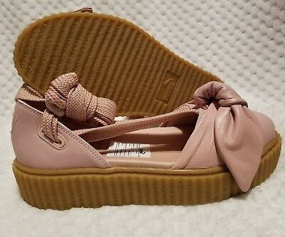 PUMA FENTY BY RIHANNA SIZE 7 WOMENS SHOES 365794 01 PINK BOW CREEPER SANDALS