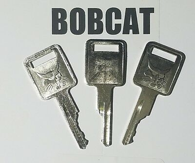 3 Bobcat Fits Volvo Compact Case Equipment Ignition Keys .logo On 1 Side