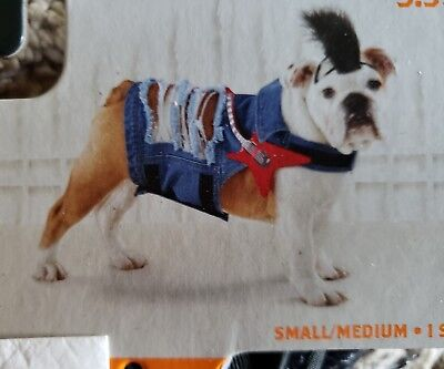 Halloween Puppy Costume (Rocker Halloween Costume Dress Up Dog S /  M Pet Puppy Clothes Small)