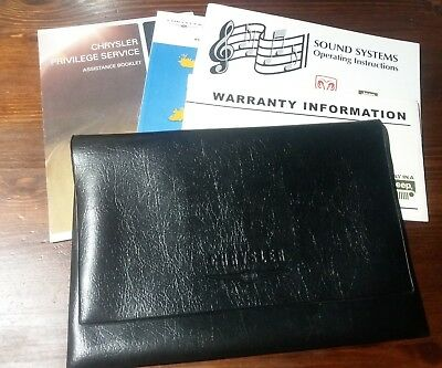 Genuine JEEP CHRYSLER Sound Systems Operating Instructions Warranty and Wallet