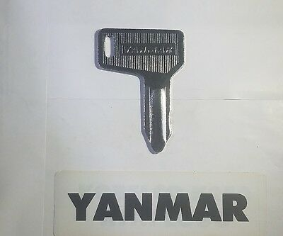 1 Yanmar Takeuchi Excavator Tractor Heavy Equipment Ignition Key Logo