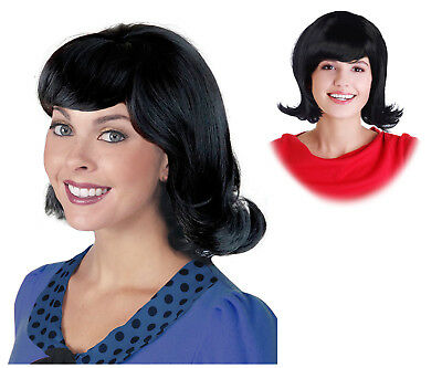 Black 60's Flip Wig Ideal for a Lucy Van Pelt Costume Wig from Peanuts - Peanuts Lucy Costume
