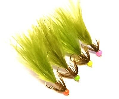 Eliteflies 31 Small water Damsel lures flies box fly fishing gold head chain eye