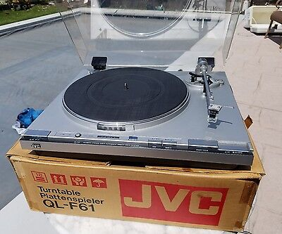 Vintage JVC QL-F61 turntable and Shure cartridge and stylus in original box!