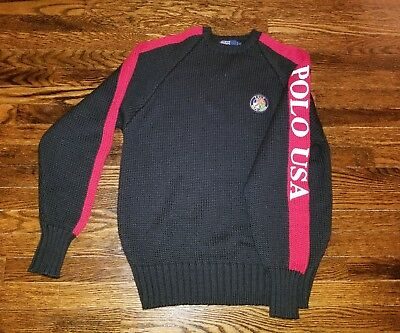 Vintage polo ralph lauren stadium  92 indian p wing ski bear usa sweater sz L
