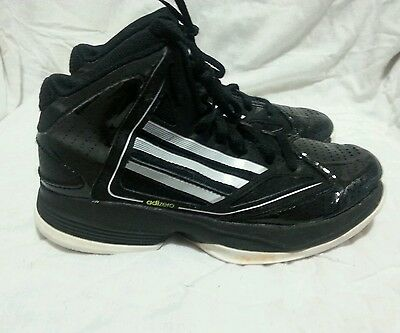 ADIDAS ADIZERO BASKETBALL SHOES - BLACK WHITE  ( SIZE 3.5Y ) YOUTH