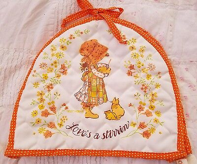 Vintage Holly Hobbie Toaster Cover Orange polkadot