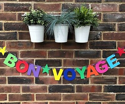 Bon Voyage Banner. Farewell bunting. Retirement banner leaving party decoration. - Farewell Party Supplies