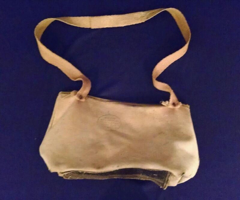 Vintage Collis 20th Century Ventilated Fish Bag Old Cloth Fishing Creel